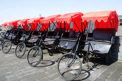 Rickshaws in Xian Stock Images