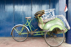 Rickshaws in Yogykarta, Indonesia Stock Photo