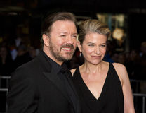 Ricky Gervais and Jane Fallon Stock Photos