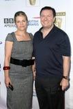 Ricky Gervais,Jane Fallon Royalty Free Stock Photos