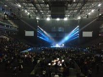 Ricky Martin Concert in Moskou, Rusland op 20 September, 2016 Stock Afbeelding