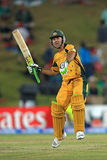 Ricky Ponting celebrates on his century Royalty Free Stock Images