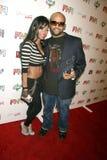 Ricky Romance et Mme Williams à l'événement de Grammy de «amis et de famille», studios de Paramount, Hollywood, CA 01-29-10 Image libre de droits