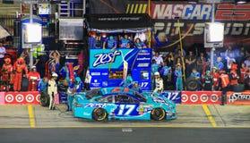 Ricky Stenhouse Jr #17 ras 10-11-14 van NASCAR Charlotte NC Royalty-vrije Stock Afbeeldingen