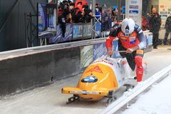 Rico Peter - bobsleigh Royalty Free Stock Images