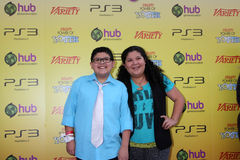 Rico Rodriguez. LOS ANGELES - OCT 22: Rico Rodriguez, sister Raini arriving at the 2011 Variety Power of Youth Evemt at the Paramount Studios on October 22, 2011 royalty free stock photo