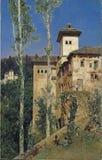 Rico y Ortega, Martin - la torre delle signore a Alhambra illustrazione vettoriale
