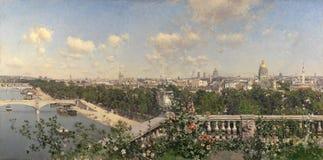 Rico y Ortega, Martin - Uitzicht DE Parijs desde Gr Trocadero stock afbeelding