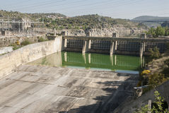 Ricobayo dam taintor. Esla river Zamora Spain Royalty Free Stock Images