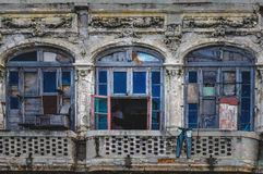 Ricoco architecture style ruin inhabited by Cuban residents Royalty Free Stock Images