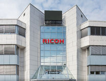 Ricoh office facade. Wallisellen, Switzerland - 10 September 2014: facade of the Ricoh office. The Ricoh Company, Ltd. is a Japanese multinational imaging and Royalty Free Stock Image