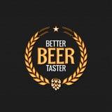 Ricompensa Logo Design Background dell'etichetta della birra Immagine Stock
