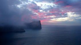 Ricopra de Formentor al tramonto - Balearic Island Maiorca stock footage