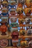 Ricordi antichi dei vasi da vendere Fotografia Stock Libera da Diritti