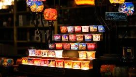 Ricordi dei supporti di candela nel mercato di Natale, Berlino, Germania Fotografia Stock Libera da Diritti