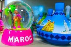 Ricordi del cammello del Marocco al negozio Immagini Stock