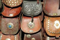 Ricordi delle borse di cuoio Immagine Stock