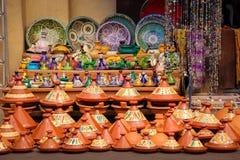Ricordi di ceramica marrakesh morocco fotografia stock libera da diritti