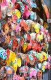 Ricordi ed artigianato tipici di Bali al mercato famoso di Ubud fotografia stock