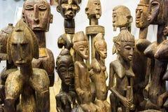 ricordi fatti a mano di legno kenian Fotografia Stock
