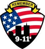 Ricordi il wtc 9-11 illustrazione di stock