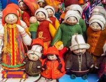 Ricordi nel mercato a Almaty, il Kazakistan fotografia stock