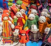 Ricordi nel mercato a Almaty, il Kazakistan Immagini Stock Libere da Diritti