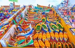 Ricordi nel mercato di Marsaxlokk, Malta immagine stock