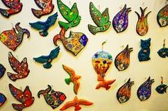 Ricordi variopinti su esposizione Cappadocia Turchia Fotografie Stock Libere da Diritti