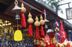 Ricordo alla via di camminata a Chengdu, Cina Immagini Stock Libere da Diritti