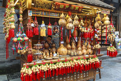 Ricordo alla via di camminata a Chengdu, Cina Fotografia Stock