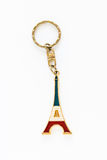 Ricordo della catena chiave di Parigi Francia della torre Eiffel Fotografia Stock Libera da Diritti