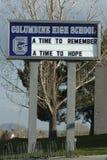 Ricordo della High School del Columbine Fotografia Stock Libera da Diritti