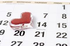 Ricordo di giorno del biglietto di S. Valentino Fotografie Stock Libere da Diritti
