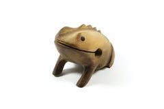 Ricordo dorato di legno della rana dal Brasile Fotografia Stock