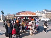 Ricordo Kiosk Palais de Chaillot Parigi Francia immagini stock