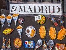 Ricordo tradizionale dalla città di Madrid Fotografie Stock Libere da Diritti