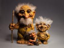 Ricordo tradizionale di Troll dalla Norvegia Fotografia Stock Libera da Diritti