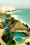 Ricorso caraibico messicano Fotografie Stock Libere da Diritti