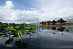 Ricorso del lago Inle in Myanmar Fotografia Stock