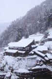 Ricorso della sorgente calda in neve Fotografie Stock