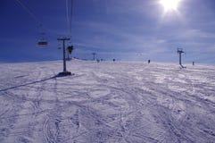 ricorso dello Montagna-sciatore Fotografia Stock Libera da Diritti