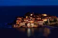 Ricorso di Sveti Stefan fotografia stock libera da diritti