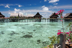 Ricorso esotico dell'isola di kapalai di Sipadan Fotografie Stock Libere da Diritti