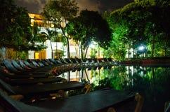 Ricorso tropicale alla notte Fotografia Stock Libera da Diritti
