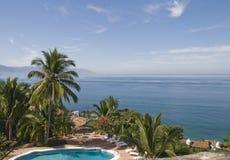 Ricorso tropicale sulla Costa del Pacifico nel Messico immagine stock