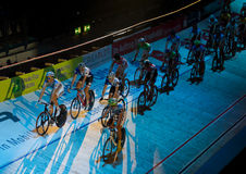 Ricos 2011 del ¼ de las De seis días-Noches ZÃ del desafío de la bici de Ndoor Imágenes de archivo libres de regalías