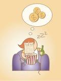 Ricos del sueño del día de Lazy Man Foto de archivo libre de regalías