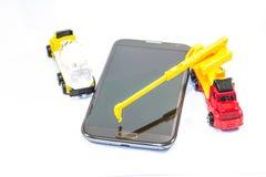 Ricostruisca il vostro sistema di telefono fotografie stock