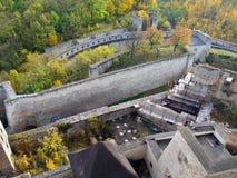 Ricostruzione del castello di Trencin Immagini Stock Libere da Diritti